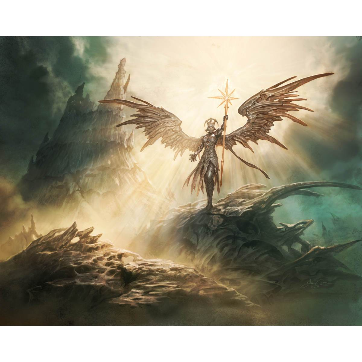 Sunblast Angel Print - Print - Original Magic Art - Accessories for Magic the Gathering and other card games
