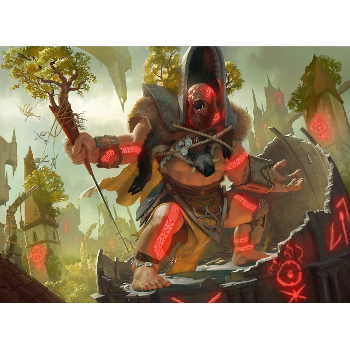 Sunder Shaman Print - Print - Original Magic Art - Accessories for Magic the Gathering and other card games