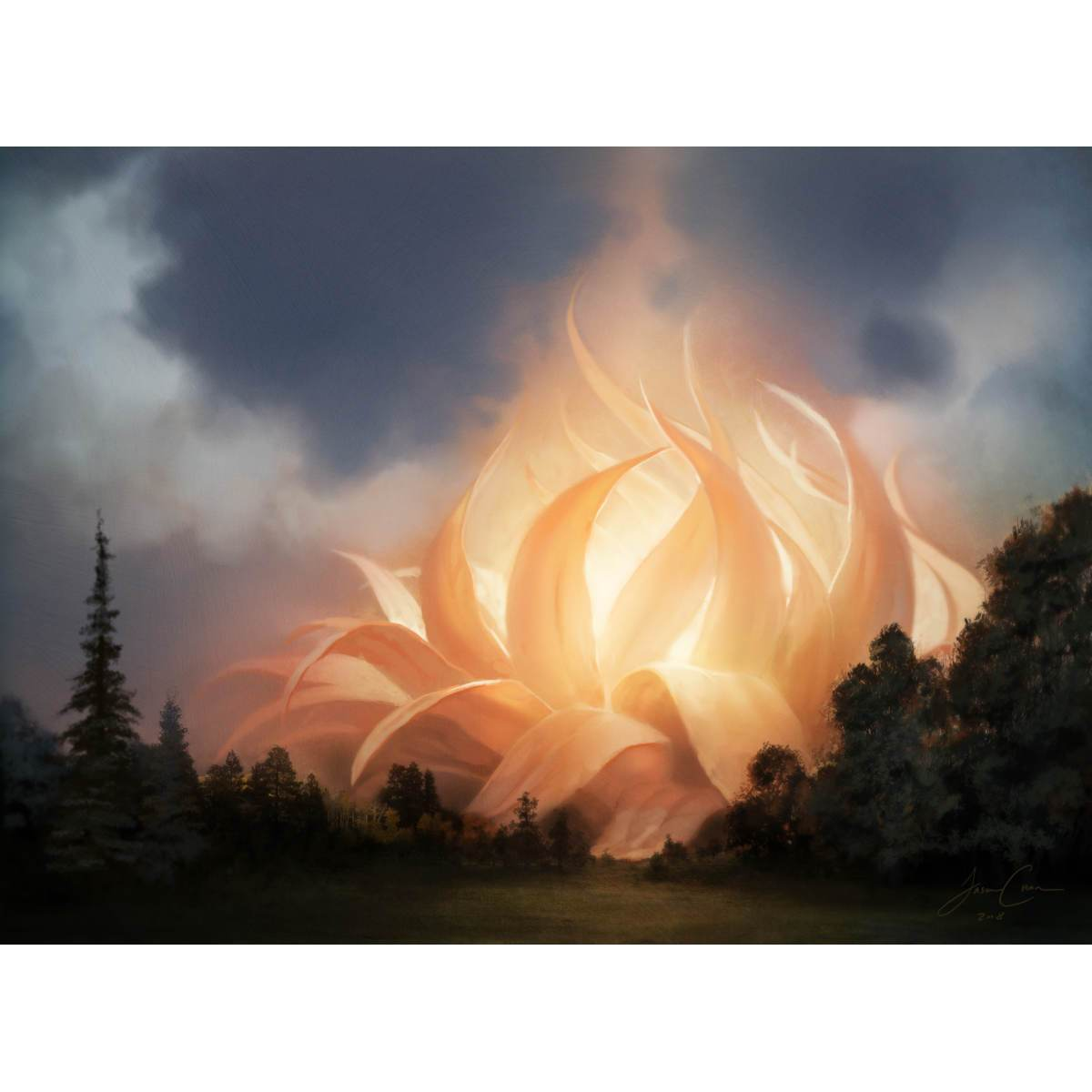 Sunpetal Grove Print - Print - Original Magic Art - Accessories for Magic the Gathering and other card games