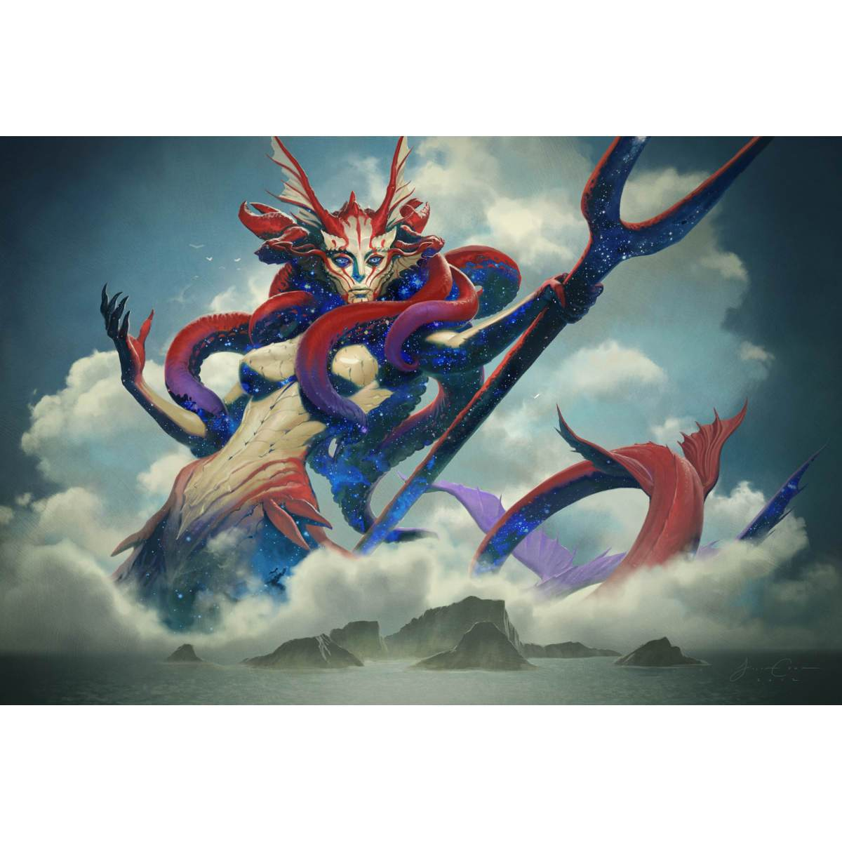 Thassa, God of the Sea Print - Print - Original Magic Art - Accessories for Magic the Gathering and other card games