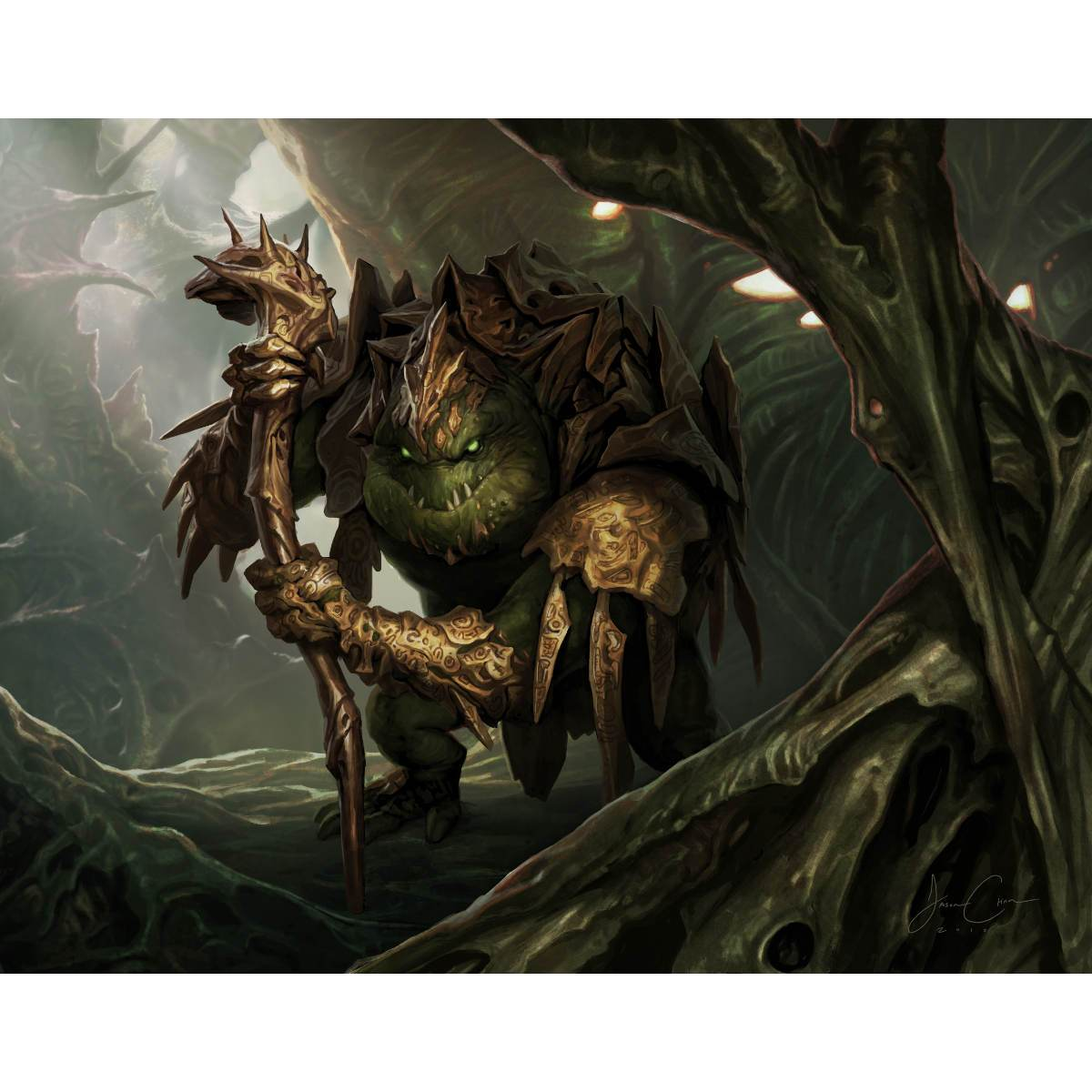 Thrun, the Last Troll Print - Print - Original Magic Art - Accessories for Magic the Gathering and other card games