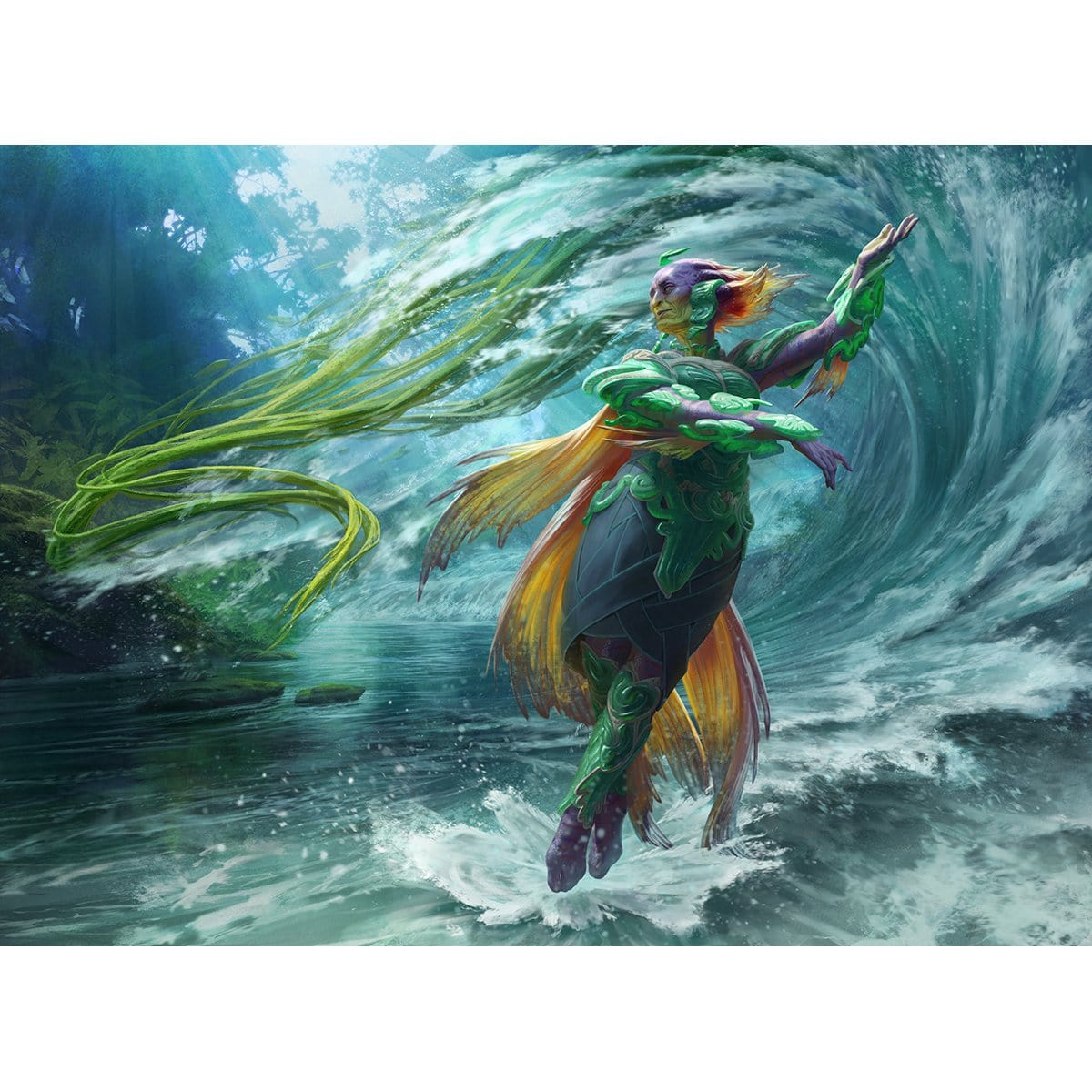 Tishana, Voice of Thunder Print - Print - Original Magic Art - Accessories for Magic the Gathering and other card games