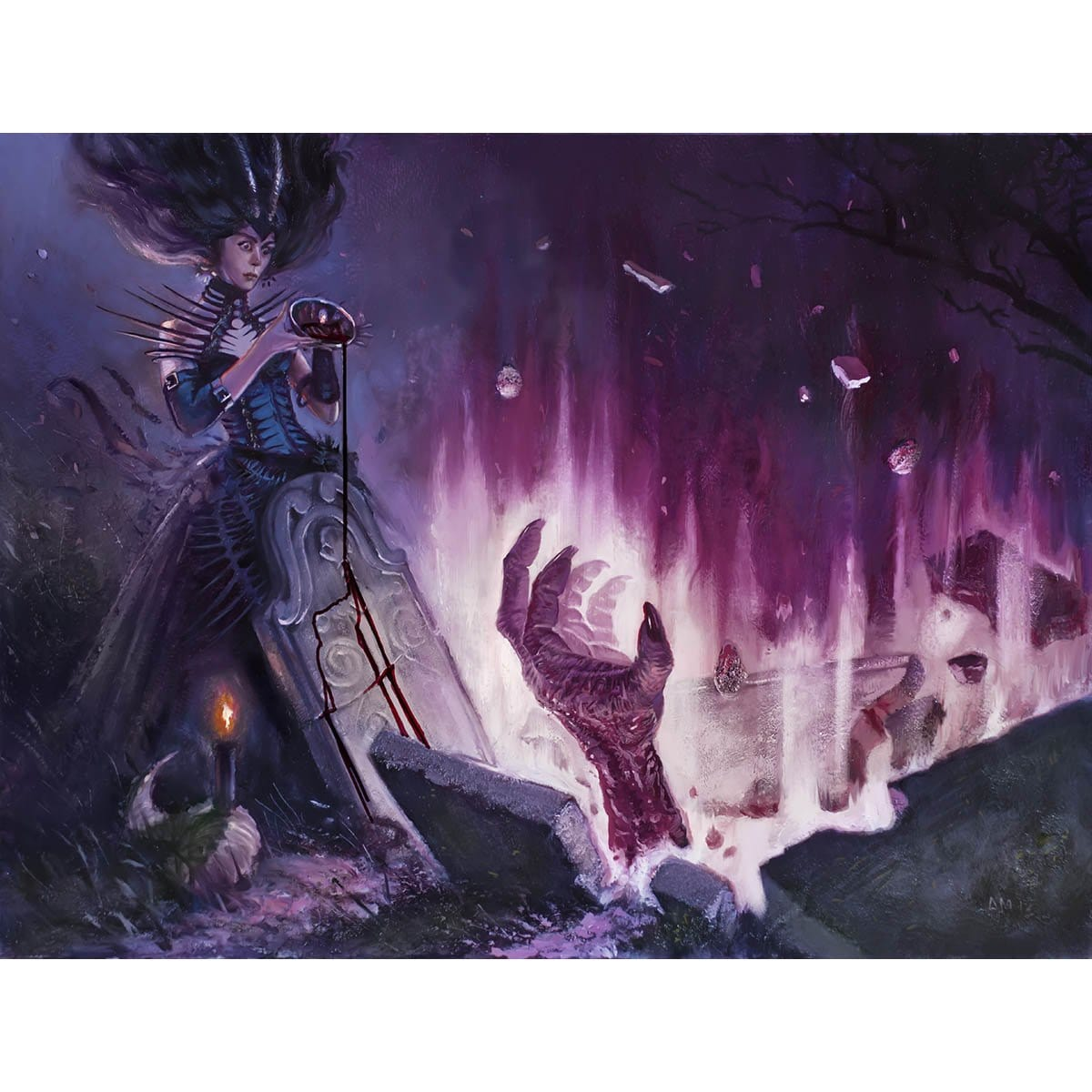 Unmake the Graves Print - Print - Original Magic Art - Accessories for Magic the Gathering and other card games