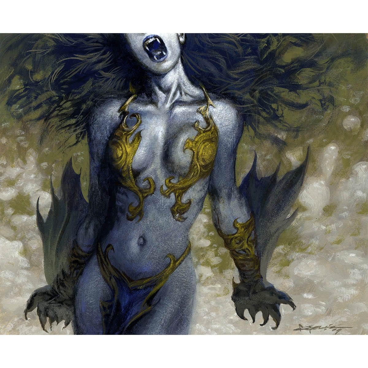 Vampire's Bite Print - Print - Original Magic Art - Accessories for Magic the Gathering and other card games