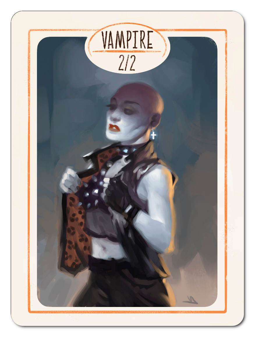 Vampire Token (2/2) by Victor Adame Minguez - Token - Original Magic Art - Accessories for Magic the Gathering and other card games