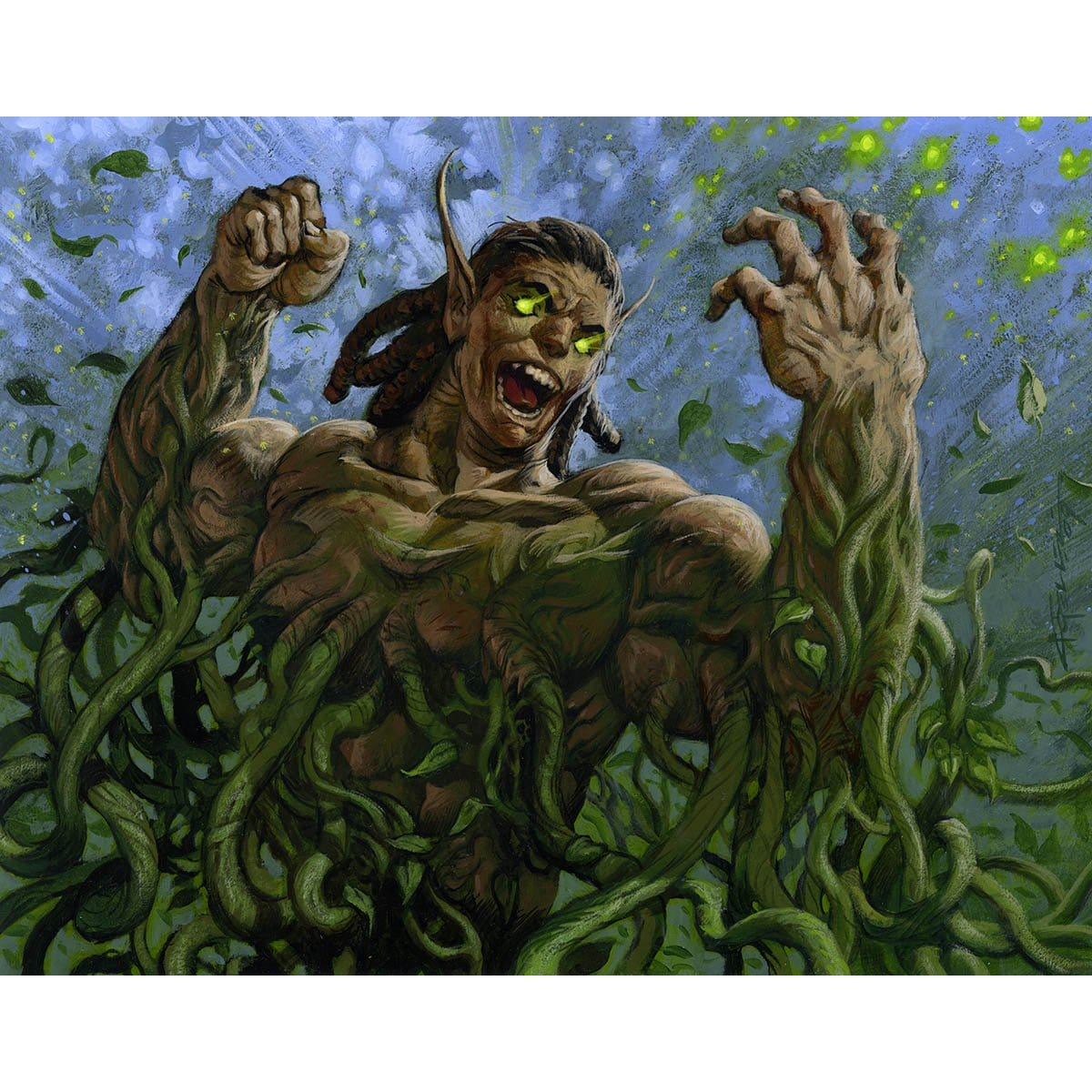 Vines of Vastwood Print - Print - Original Magic Art - Accessories for Magic the Gathering and other card games
