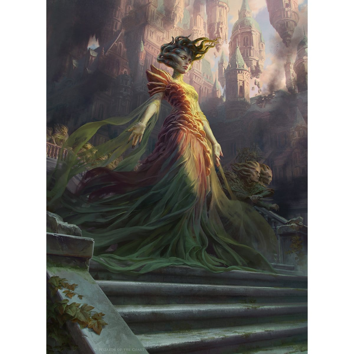 Vraska, Swarm's Embrace Print - Print - Original Magic Art - Accessories for Magic the Gathering and other card games