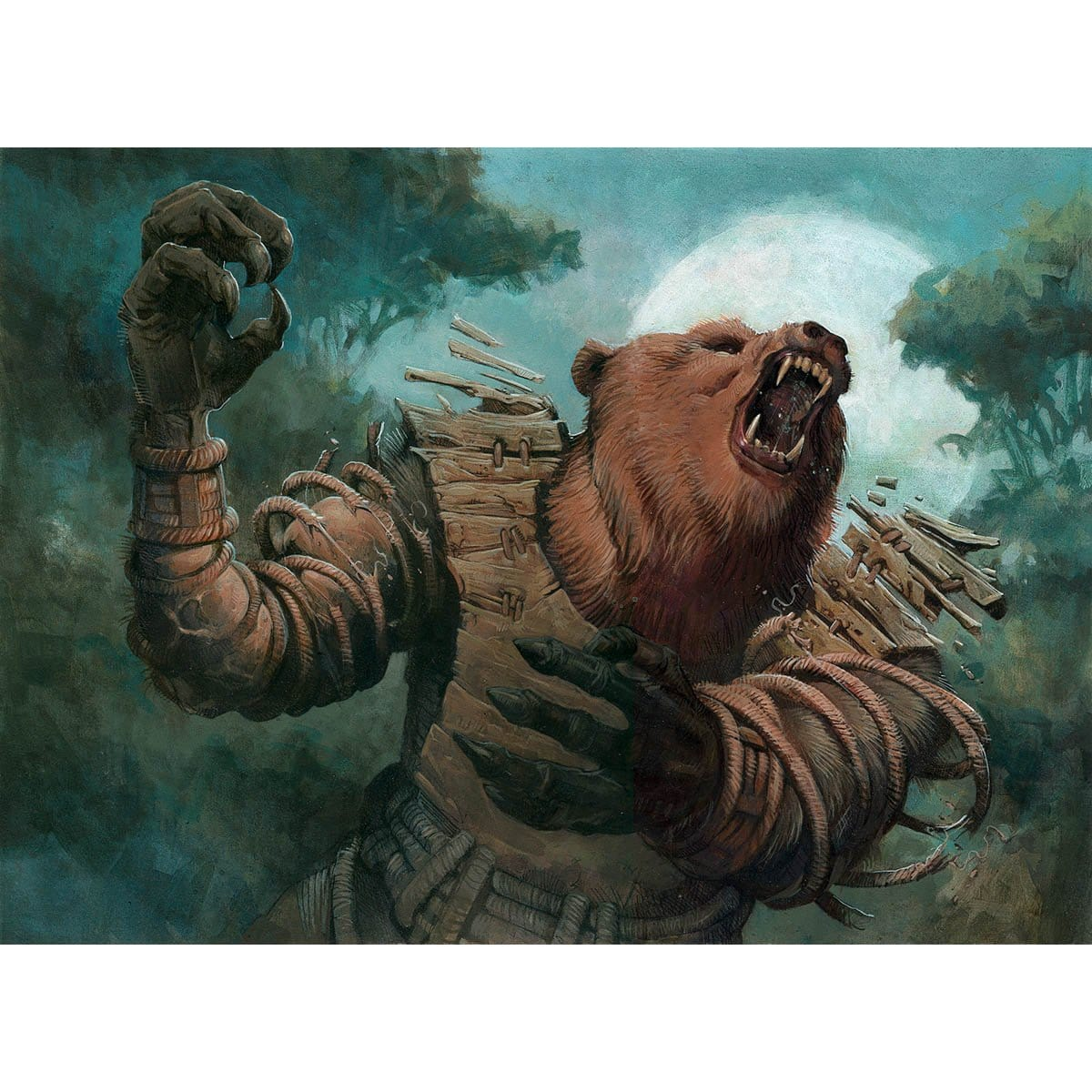 Werebear Print - Print - Original Magic Art - Accessories for Magic the Gathering and other card games