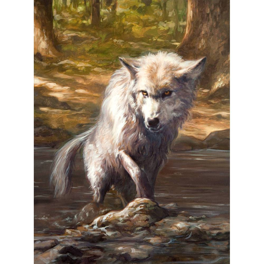 Wolf Token Print - Print - Original Magic Art - Accessories for Magic the Gathering and other card games