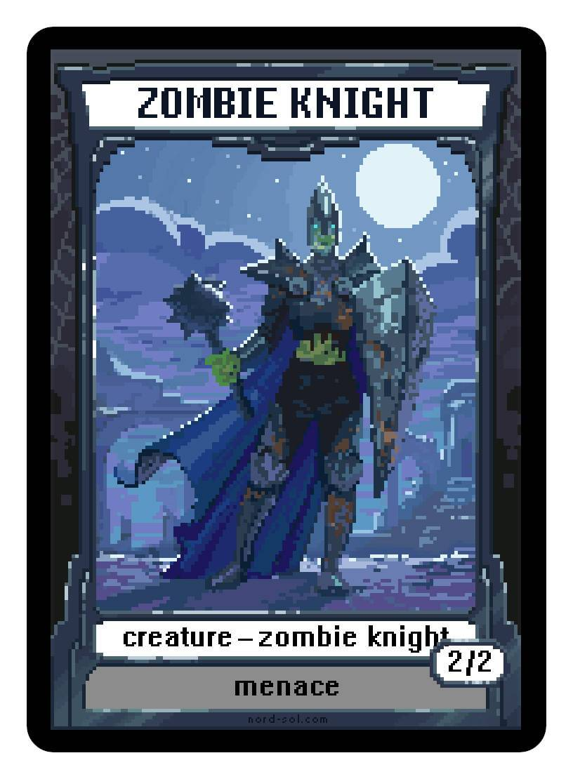Zombie Knight Token (2/2 - Menace) by Irina Nordsol