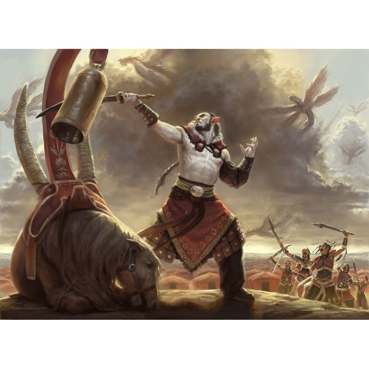 Zergo Bellstriker Print - Print - Original Magic Art - Accessories for Magic the Gathering and other card games
