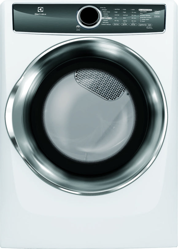Electrolux Front Load Perfect Steam™ Electric Dryer with Instant Refresh and 8 cycles - 8.0 Cu. Ft.