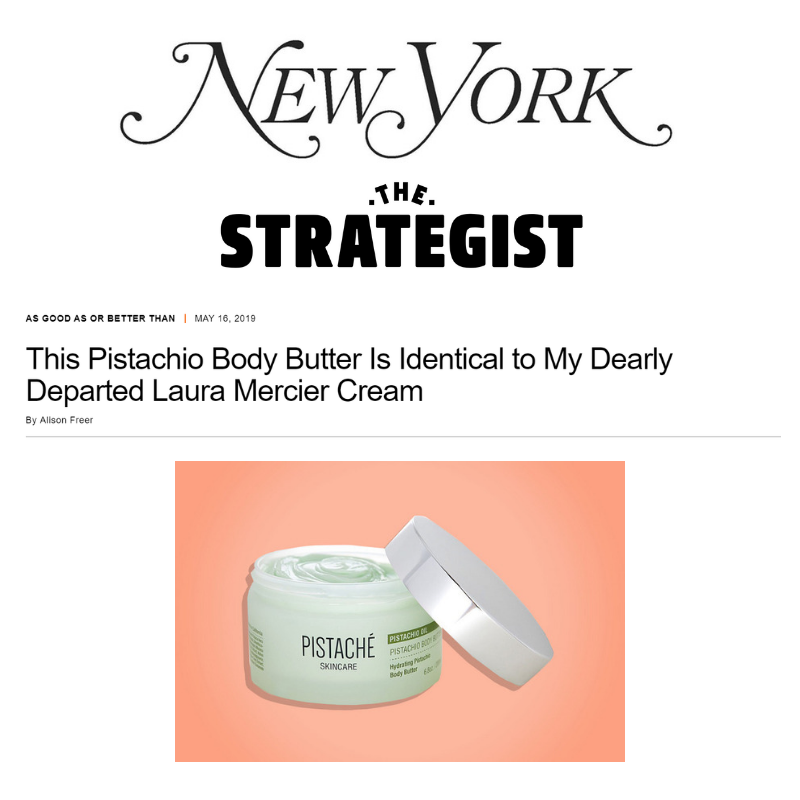 Pistachio Body Butter Featured in NY Mag