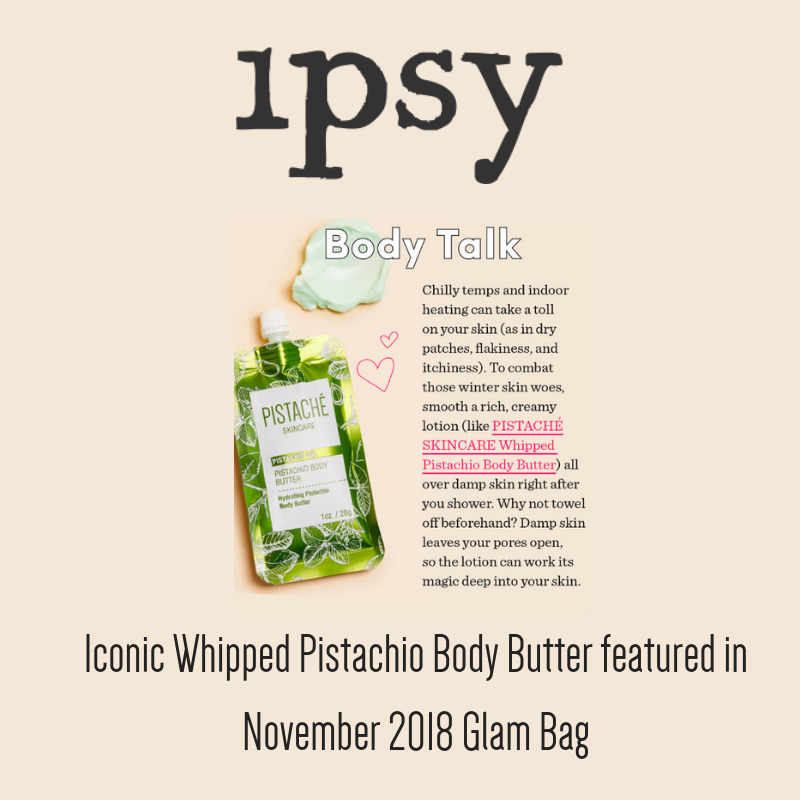 Iconic Pistachio Body Butter featured in Ipsy Glam Bag