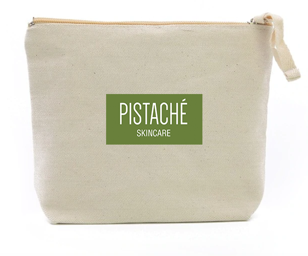 Pistaché Skincare Canvas Bag