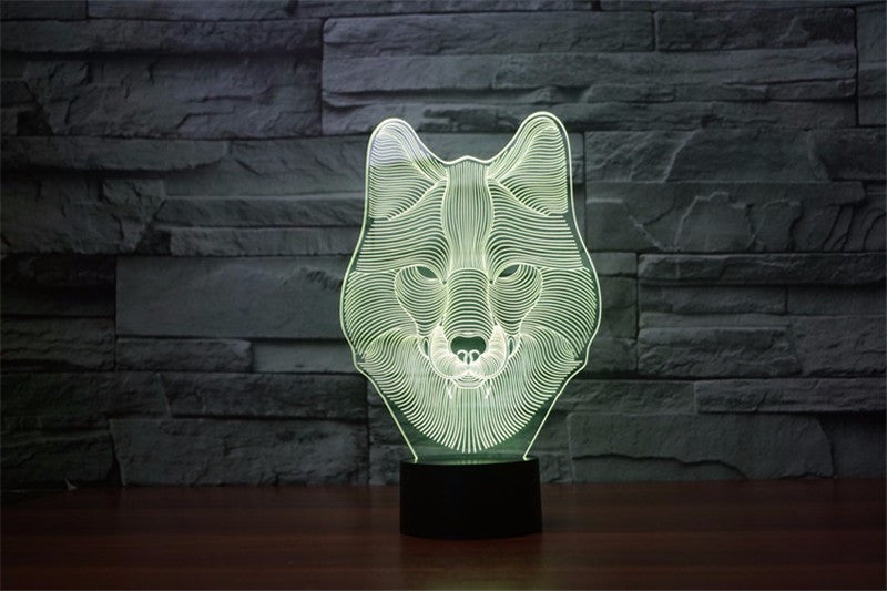 New LED Wolf Lamp