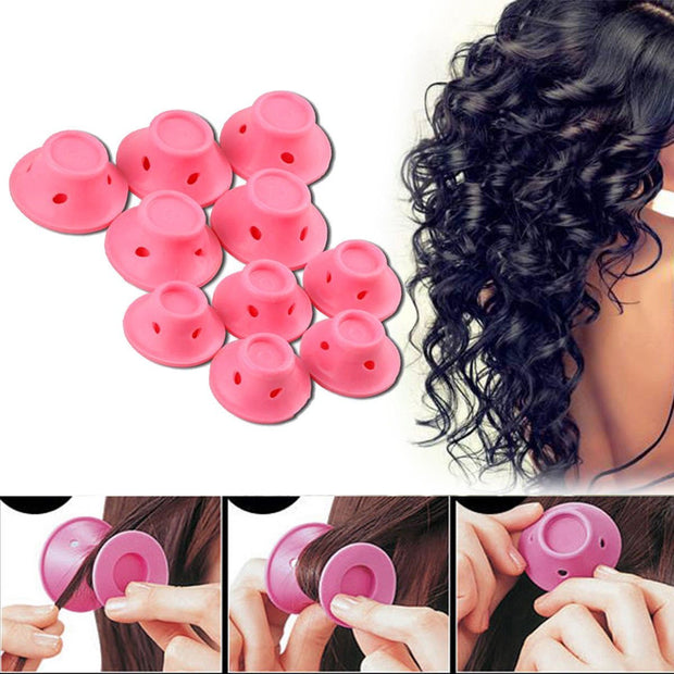 10 pcs. Silicone Hair Curlers