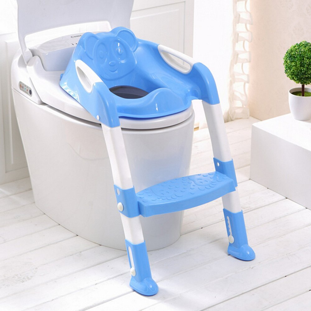 Baby Potty Toilet Seat Chair Training Seat With Adjustable Ladder