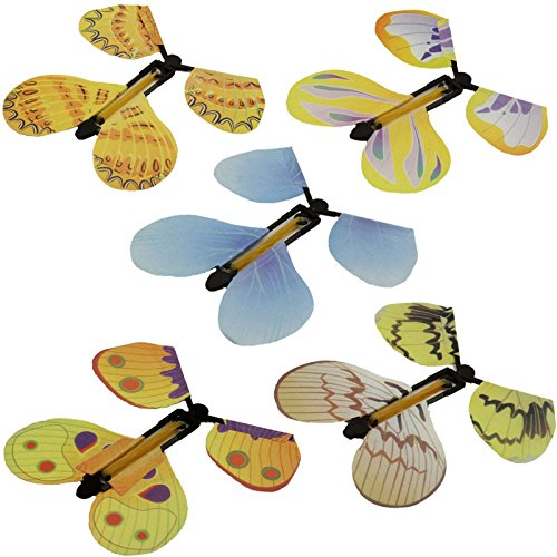 5Pcs Novelty Magic Toys Flying Butterfly