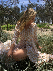 Wrap Dress - Desert Print