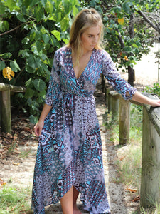 Wrap Dress - Panama Print