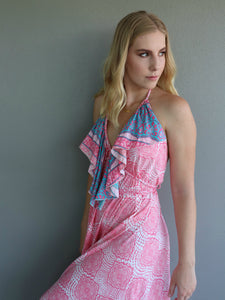 Wanderer Dress - Flamingo Print