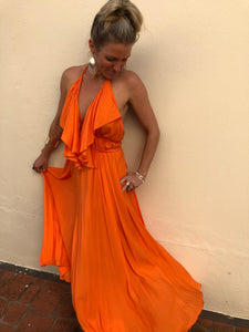 Wanderer Dress - Tangerine