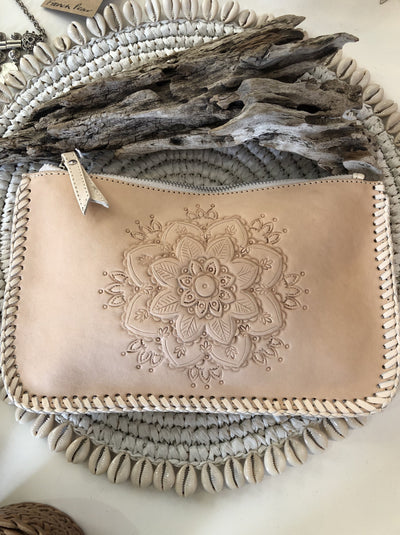 Leather Mandala Clutch