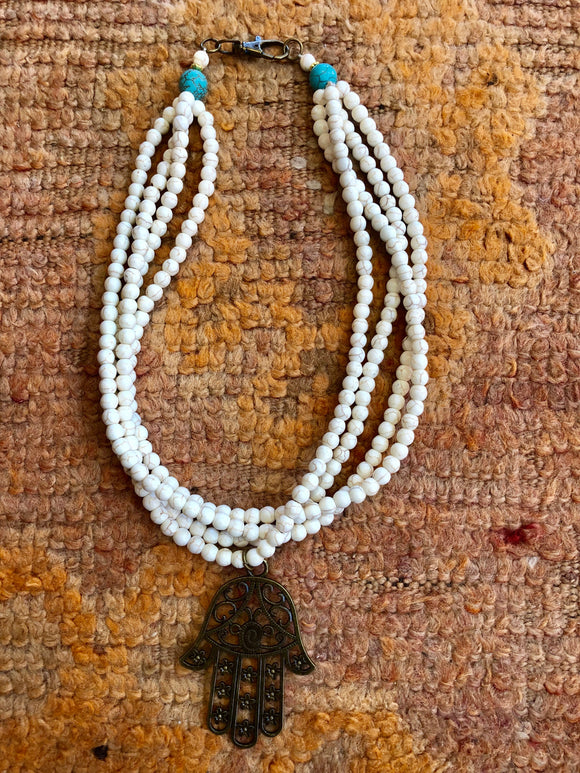 Beaded Multi-Strand Necklace - Natural