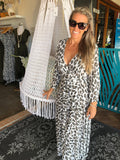 Wrap Dress - Leopard Print