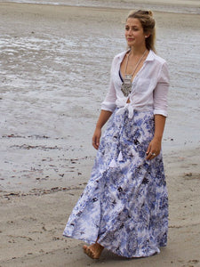 Florentine Maxi Skirt- Willow Print