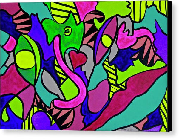Lips And  Eyes - Canvas Print