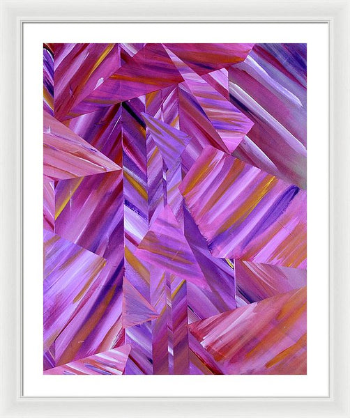 Triangle Fields - Framed Print