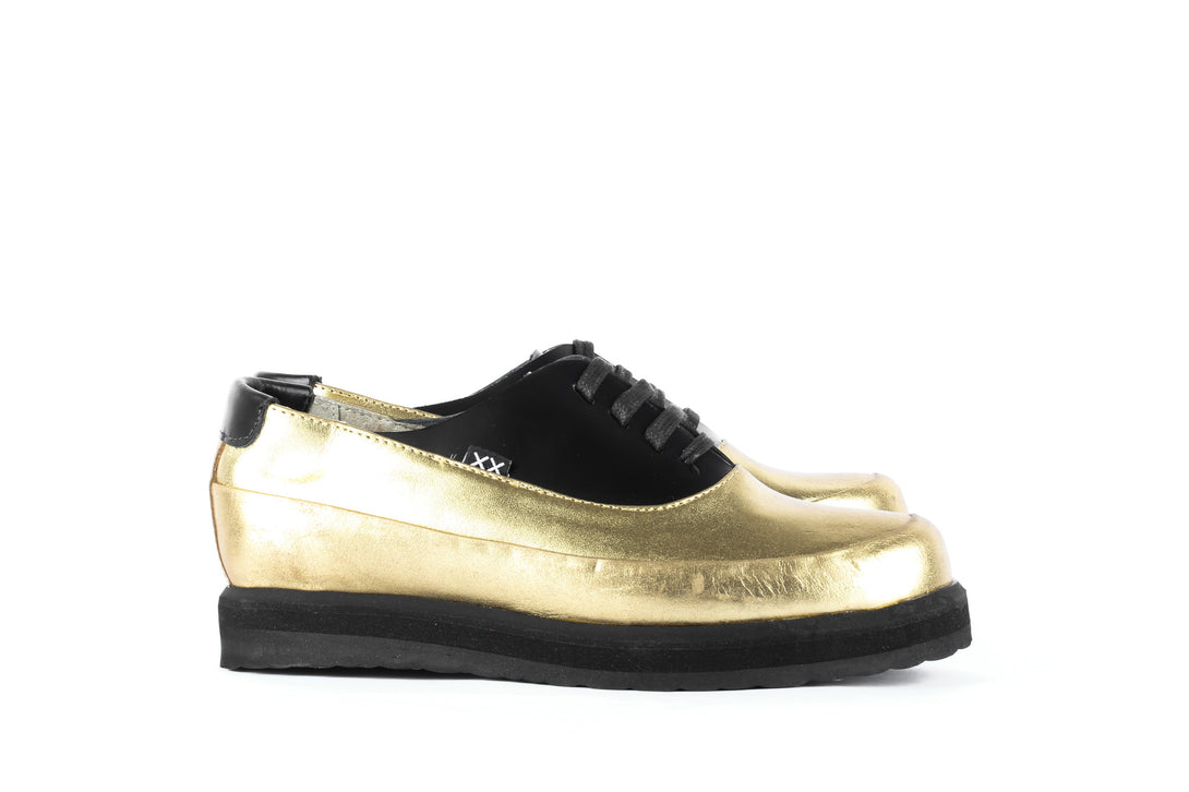 Uke Gold - Women Shoes Bestias Shoes Australia. Handcrafted leather shoes. Sustainable and fair trade