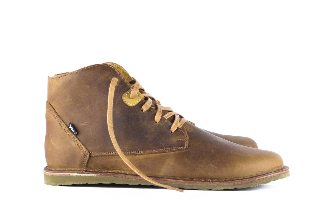 Pudu Mid Brown - Mens Shoes Bestias Shoes Australia. Handcrafted leather shoes. Sustainable and fair trade
