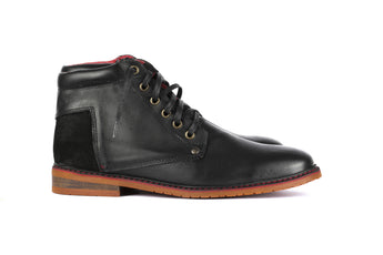 Marabu Mid Black - Mens Shoes Bestias Shoes Australia. Handcrafted leather shoes. Sustainable and fair trade