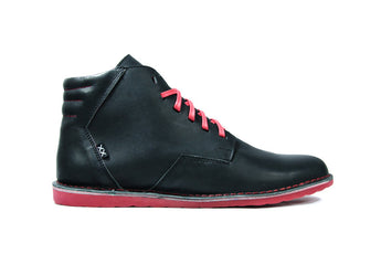 Gerbo Mid Black - Mens Shoes Bestias Shoes Australia. Handcrafted leather shoes. Sustainable and fair trade