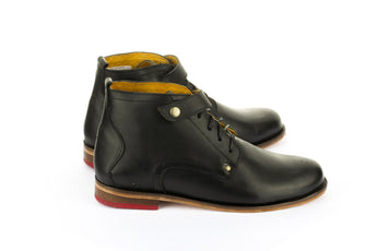 Dodo Mid Black - Mens Shoes Bestias Shoes Australia. Handcrafted leather shoes. Sustainable and fair trade