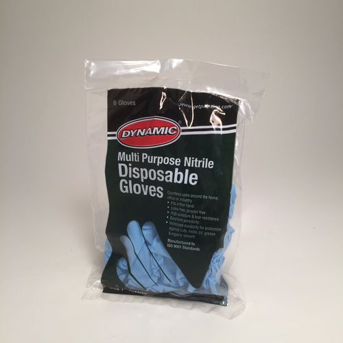 Disposable Gloves - Nitrile - Blue - 6 pack