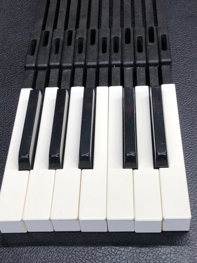 Fender Rhodes Mark II - All plastic key frame  - 1979-1983 SET of 12 octave