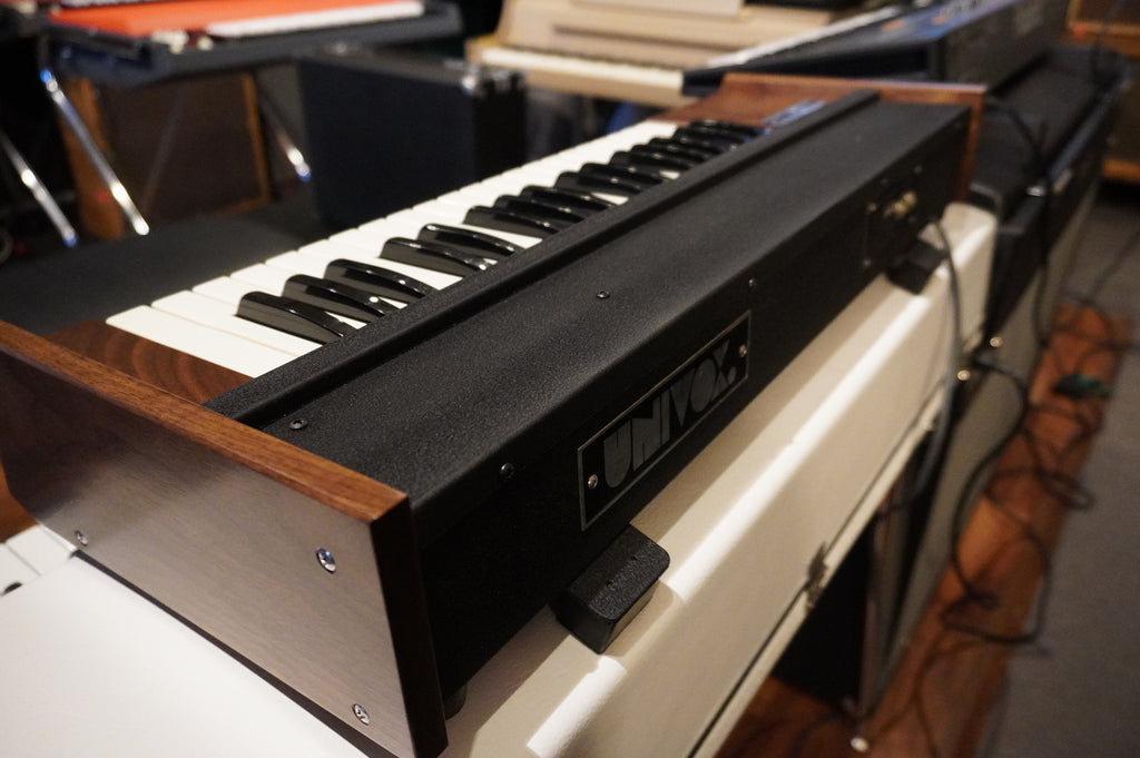 Univox Mini Korg K1 Mono Synth with custom walnut cabinet