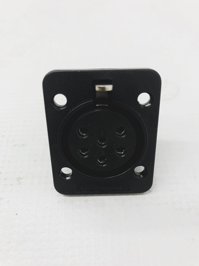 6 Pin Heavy Duty locking Female Hammond/Leslie Amphenol Replacement Chassis mount