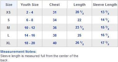 Youth size shirts chart ibov jonathandedecker com