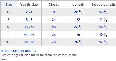 Youth size chart shirts frodo fullring co