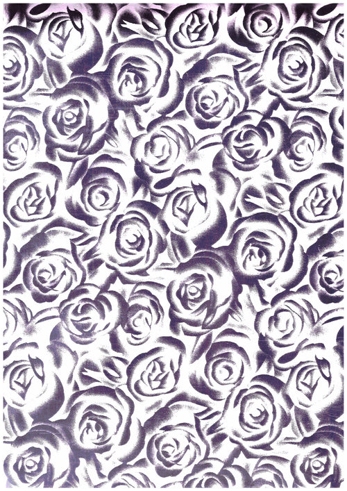 "Ecovinyl Pattern Foil Rose Silver 20"" wide"