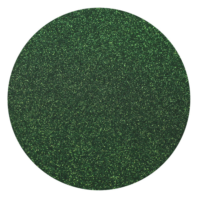 "Ecovinyl Glitter Dark Green 20"" wide"
