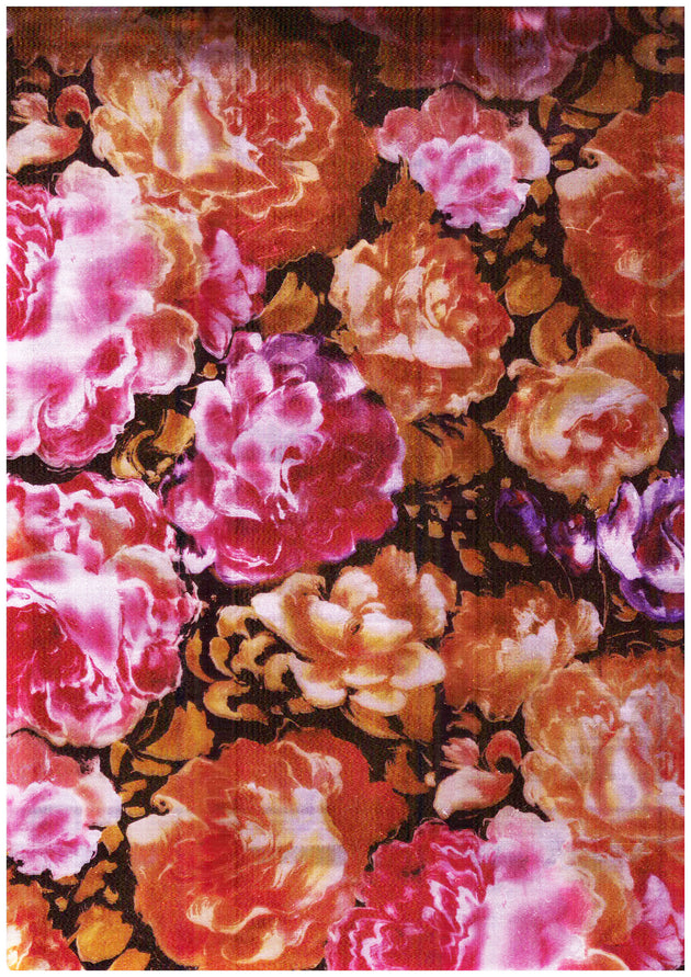 "Ecovinyl Pattern Foil Flower-B 20"" wide"
