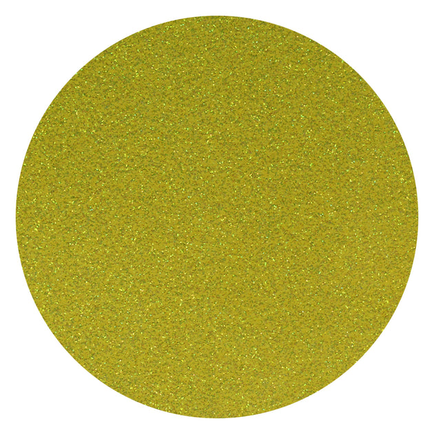 "Ecovinyl Glitter Rainbow Yellow 20"" wide"