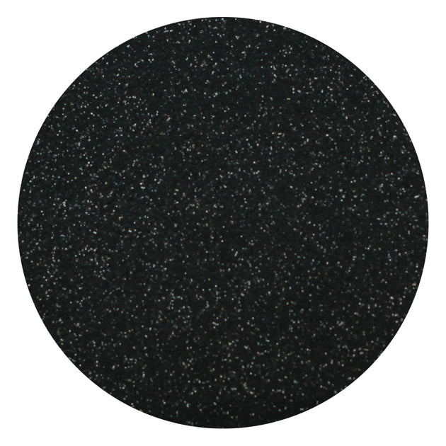 "Ecovinyl Glitter Black 20"" wide"