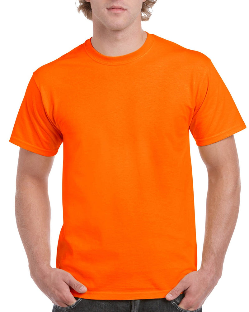 Safety Orange Gildan Adult T-Shirt